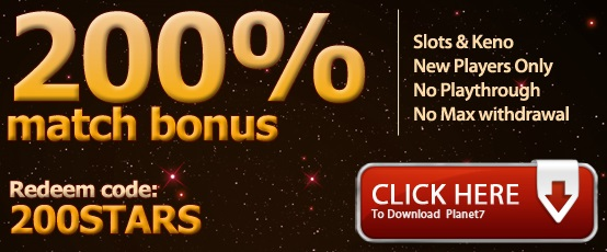 What bonuses does the Planet7 online casino offer?