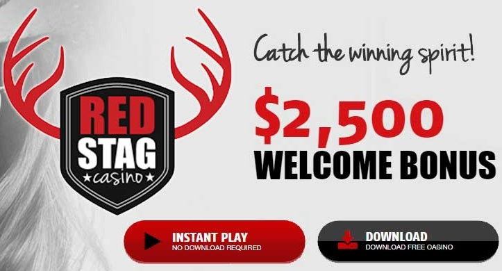 What bonus can you claim from the Red Stag website?