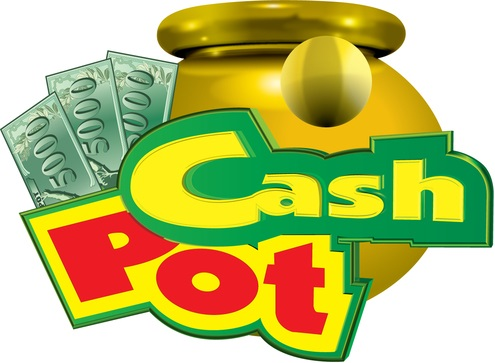 What makes the cash pot typical for fruit slot machines?
