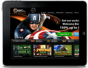 can you check the casino.com review on your tablet
