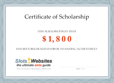 Certificate for scholarship