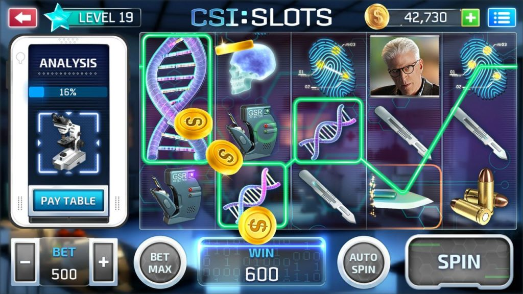 where can you find csi tv show slotmachines