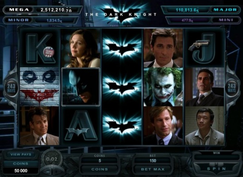 do you want to play dark knight movie slots