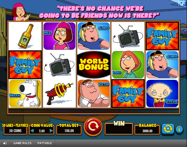 would you play the family guy tv show slots game