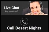 Can gamblers rely on the Desert Nights customer support services?