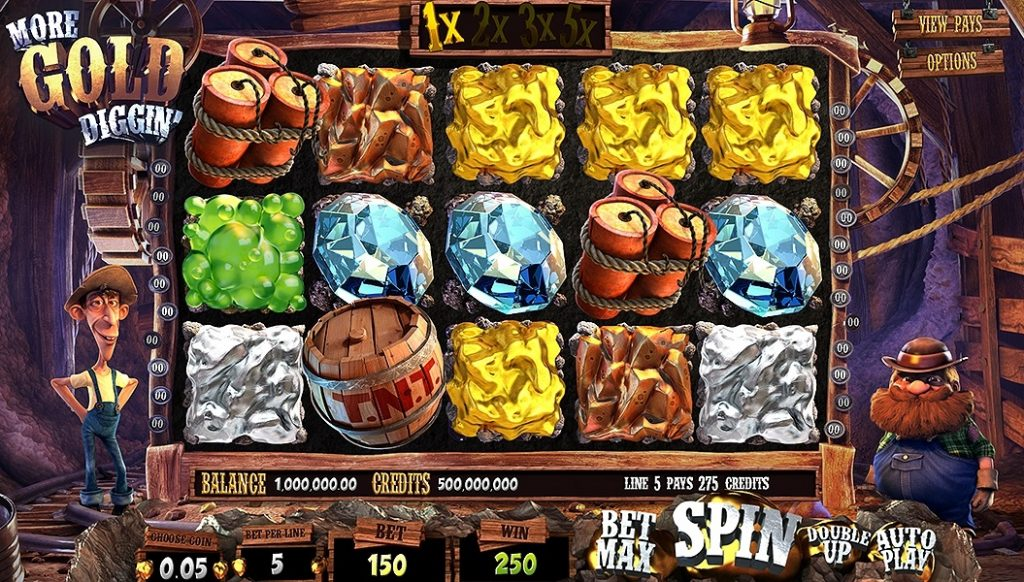 who develops 3d slot games such as golddiggin