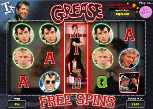 what are the grease themed movie slots about