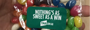 Why is a betting company giving out jelly beans?