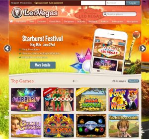 find the website overview of leo vegas casino review