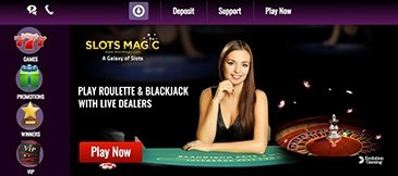 Can you find live support at Slots Magic Casino?