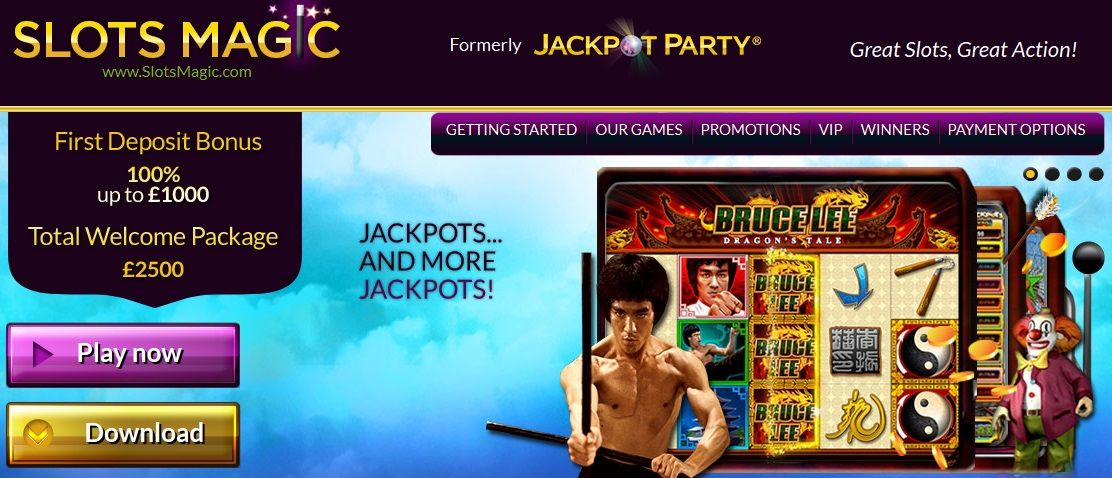 What does the Magic Online Slots software offer?