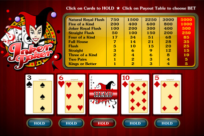 free slot poker video