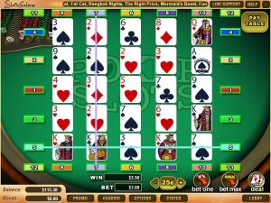 which are the variations of video poker slots