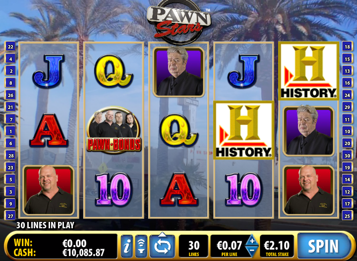 are you a fan of the pawn stars slots theme