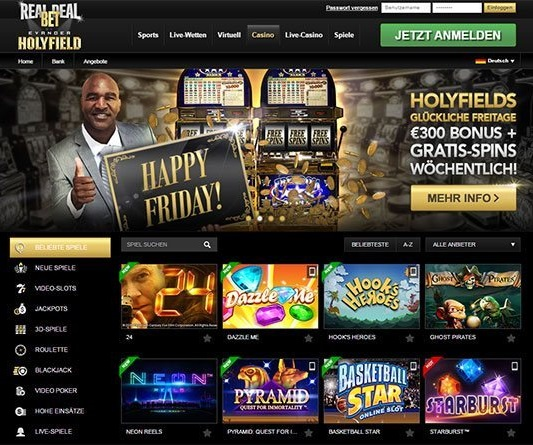 what are the game options at real deal bet casino