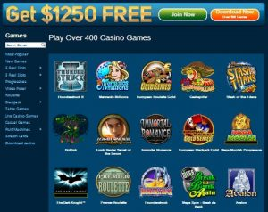 which games does roxy palace software platform offer