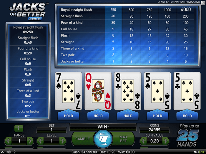 is there video poker at royal panda casino review