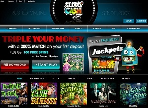 Download the Sloto Cash software to play games online!
