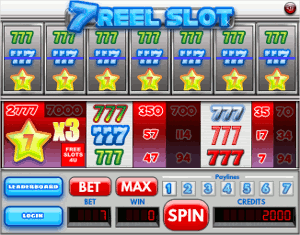why the 7-reel online slot games are rare
