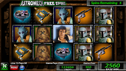 is there a star wars trilogy movie slot machines