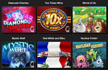 Slots games you can play at the Desert Nights website!
