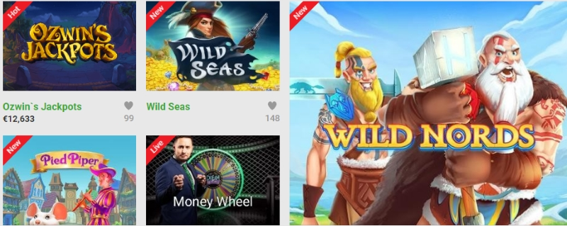 Unibet popular casino games