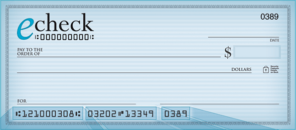 Who can take advantage of the eCheck banking?