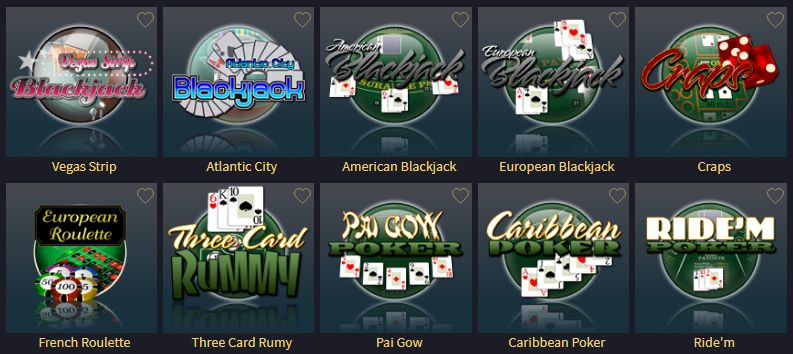 Vegas Crest players can find various table gaming options!