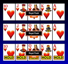 what does the video poker royal flush mean